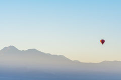 Balloon ride at sunrise in Atacama Desert, Chile royalty free stock photo