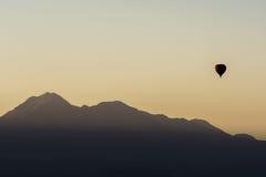Balloon ride at sunrise in Atacama Desert, Chile Stock Photography