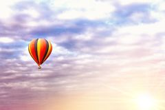 Balloon ride at sunrise royalty free stock photography