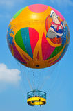 Balloon with riders Royalty Free Stock Photo