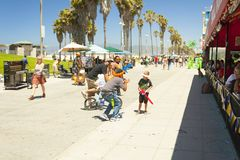 Balloon`s peddler in a pedestrian walkway of venice beach los angeles california royalty free stock images