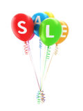 Balloon's spelling sale. For advertisement of a big sale event or promotion on a white background Stock Photography