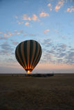Balloon safari Tanzania sunrise Stock Photo