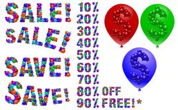 Balloon sales Royalty Free Stock Photography