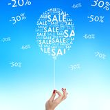 Balloon of sales and discounts Stock Images