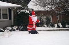 Balloon Santa In Snow Stock Photography