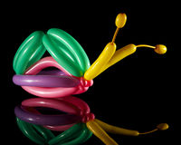 Balloon sculpture of a snail Stock Images