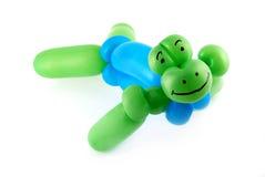 Balloon sea turtle. High resolution twisted balloon sea turtle isolated on white Royalty Free Stock Photo
