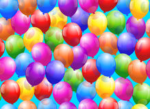 Balloon Seamless Wallpaper Royalty Free Stock Photos