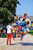 Balloon seller, Stratford-upon-Avon. Stock Photo