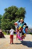 Balloon seller, Stratford-upon-Avon. Royalty Free Stock Photo