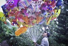 Traditional Balloon sellers stock photos