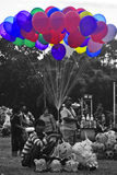 Balloon sellers stock image