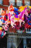 Balloon sellers in Madrid royalty free stock photo