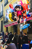 Balloon sellers in Madrid royalty free stock photography