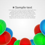 Balloon set art object Royalty Free Stock Images