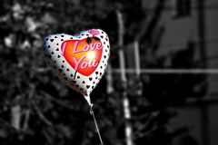Balloon shape of a heart Royalty Free Stock Photography