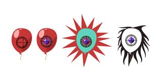 Balloon shooting animation phases Stock Photography