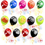 Balloon shopping icons Stock Photos