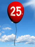 25 Balloon Shows Twenty-fifth Happy Birthday Royalty Free Stock Photography