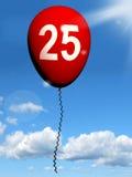 25 Balloon Shows Twenty-fifth Happy Birthday. 25 Balloon Showing Twenty-fifth Happy Birthday Celebration Royalty Free Stock Photography