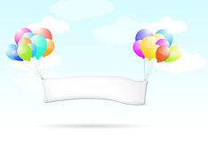 Balloon sign Royalty Free Stock Images