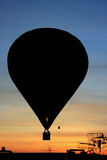 Balloon silhoulette in the morning Royalty Free Stock Photos
