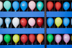 Balloon Skill Game at a Boardwalk Amusement Park Stock Photo