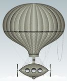 Balloon in the sky. An old-fashioned balloon flying in the sky Royalty Free Stock Images