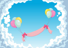 Balloon in the sky Royalty Free Stock Photos
