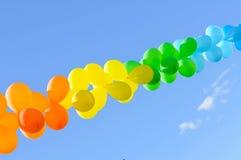 Balloon in the sky. Balloon in the blue sky Stock Photos