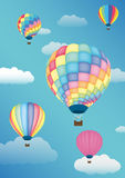 Balloon. A balloon  on a sky background Royalty Free Stock Image