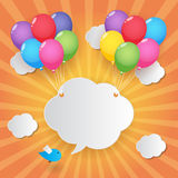 Balloon sky background Stock Image