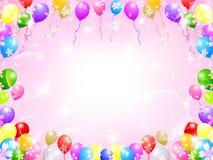 Balloon sky background Stock Photos