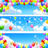 Balloon sky background Royalty Free Stock Photography