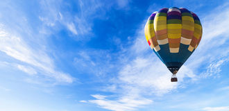 Balloon in the sky panorama Stock Photography