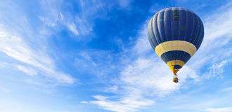 Balloon in the sky panorama Stock Image