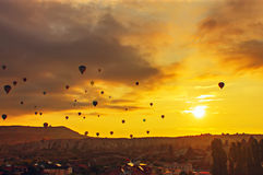 Balloon in the sky Stock Photo