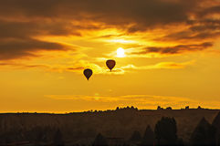 Balloon in the sky Stock Images