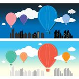 Balloon in the sky vector Stock Photos
