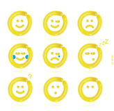 Balloon Smiles Icons Royalty Free Stock Photo