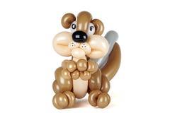 Balloon Squirrel. Isolated on white Royalty Free Stock Photos