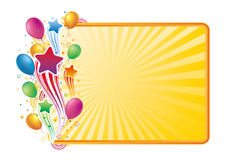 Balloon and star celebration background Royalty Free Stock Images
