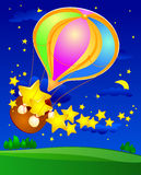 Balloon and stars Royalty Free Stock Photography