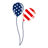 Balloon with stars and stripes icon Royalty Free Stock Photography