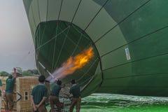 Balloon before start Stock Photo