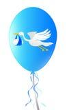 Balloon with stork Royalty Free Stock Photo