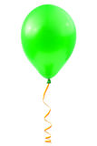 Balloon and streamer. Isolated on white background Royalty Free Stock Photography