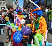 Balloon street vendors stock image