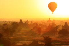 Balloon. Sunrise in Bagan Myanmar stock photos